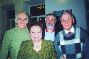 Із колегами (зліва направо): Володимир Губа, Галина Степанченко, Володимир Грабовський, Віталій Годзяцький