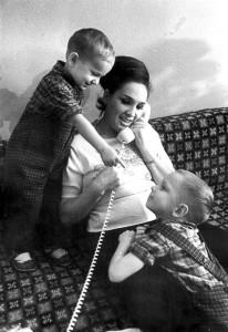 З синами Ігорем та Олегом. 1966 р.