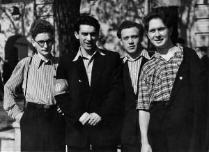 Яків Файн, Олександр Александров, Олександр Таранець, Вадим Гнедаш. Початок 1950-х рр.