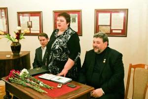Із Михайлом Шведом і ганною Гаврилець на врученні Премії імені Миколи Лисенка