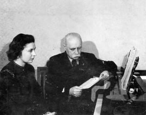 На уроці у Левка Ревуцького. 1955 р.