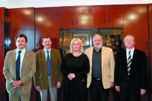 Члени журі (зліва направо): Віктор Петриченко, Богдан Дерев'янко, Олена Штукар, Євген Савчук, Сергій Прокопов