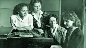 Лілія Малявська, Світлана Балашова, Олена Андрєєва, Леся Дичко. 1957 р.