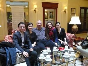Павло Гунька зі студентами Київської консерваторії