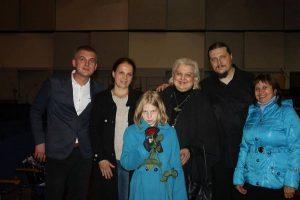 Із рідними й колегами після концерту